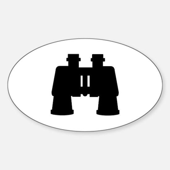 Binoculars Sticker (Oval)