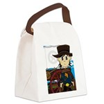 Cowboy Sheriff and Wagon Canvas Lunch Bag