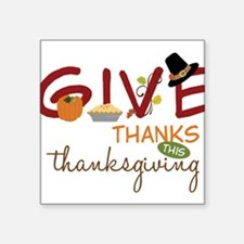 "Thanksgiving Square Sticker 3"" x 3"""