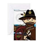 Cowboy Sheriff and Wagon Greeting Card