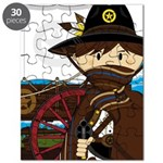 Cowboy Sheriff and Wagon Puzzle
