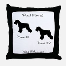 2 Schauzers - Cropped Tails/Natural Ears Throw Pil