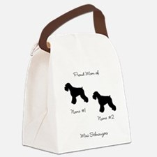 2 Schauzers - Cropped Tails/Natural Ears Canvas Lu
