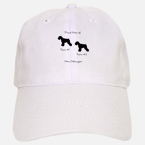 2 Schauzers - Cropped Tails/Natural Ears Baseball Baseball Cap