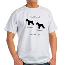 2 Schauzers - Cropped Tails/Natural Ears T-Shirt