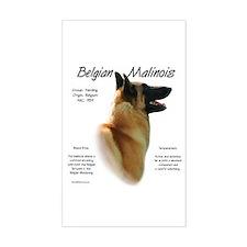 Belgian Malinois Rectangle Decal