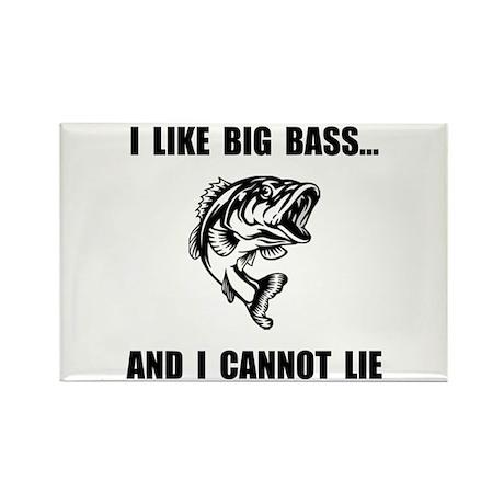 Big Bass Rectangle Magnet (10 pack)