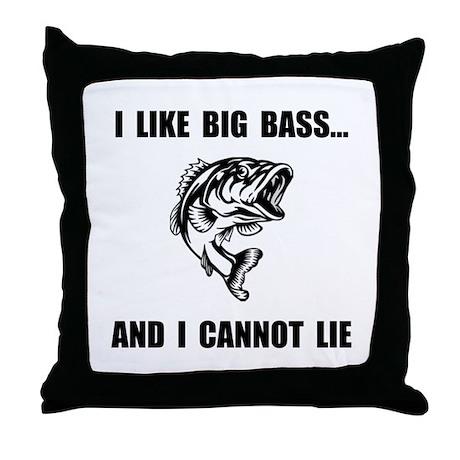 Big Bass Throw Pillow