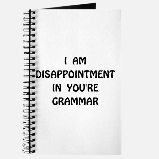 Disappointment Grammar Journal