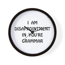 Disappointment Grammar Wall Clock