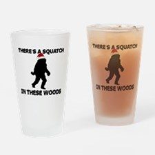 Santa Squatch Drinking Glass