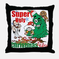 Super Ugly Christmas Shirt Throw Pillow