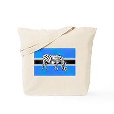Botswana Football Flag Tote Bag