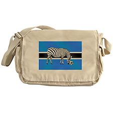 Botswana Football Flag Messenger Bag