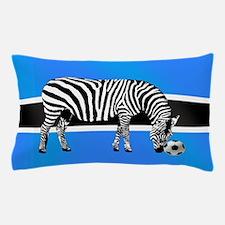 Botswana Football Flag Pillow Case