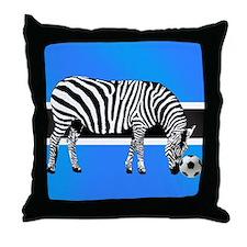 Botswana Football Flag Throw Pillow
