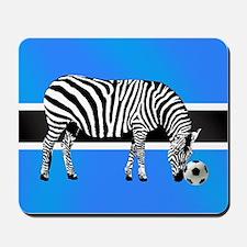 Botswana Football Flag Mousepad