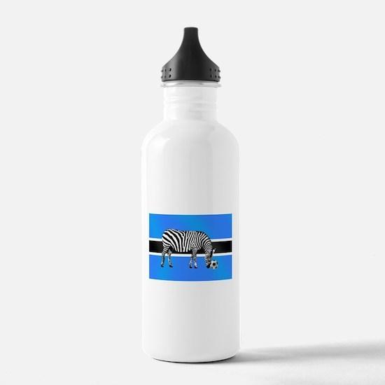 Botswana Football Flag Water Bottle