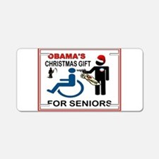 OBAMA GIFT.jpg Aluminum License Plate