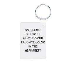 Favorite Color Alphabet Keychains