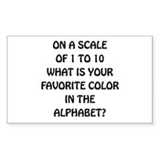 Favorite Color Alphabet Decal