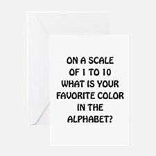 Favorite Color Alphabet Greeting Card