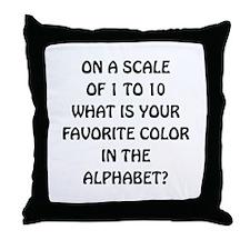 Favorite Color Alphabet Throw Pillow