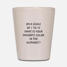 Favorite Color Alphabet Shot Glass