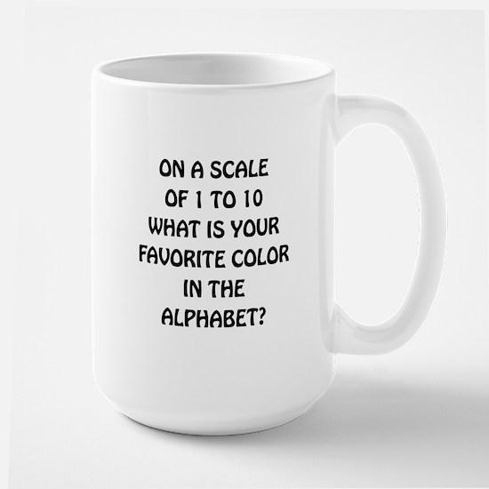 Favorite Color Alphabet Large Mug