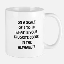 Favorite Color Alphabet Small Small Mug