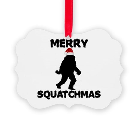 Merry Squatchmas Picture Ornament