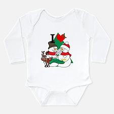Smelling Deer Fart Long Sleeve Infant Bodysuit
