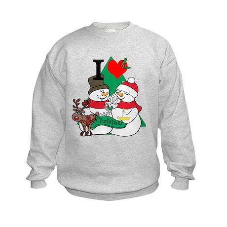 Smelling Deer Fart Kids Sweatshirt