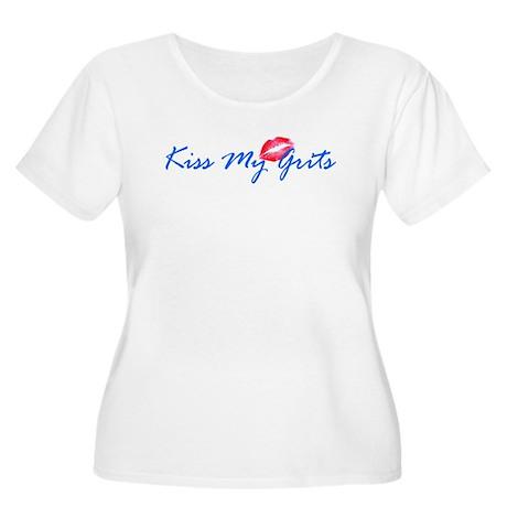 Kiss My Grits Women's Plus Size Scoop Neck T-Shirt
