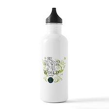 Be the Change - Earth - Green Vine Water Bottle