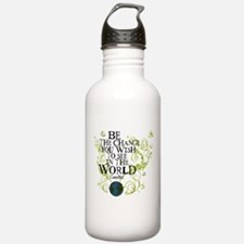 Be the Change - Earth - Green Vine Water Bottle