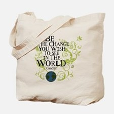 Be the Change - Earth - Green Vine Tote Bag