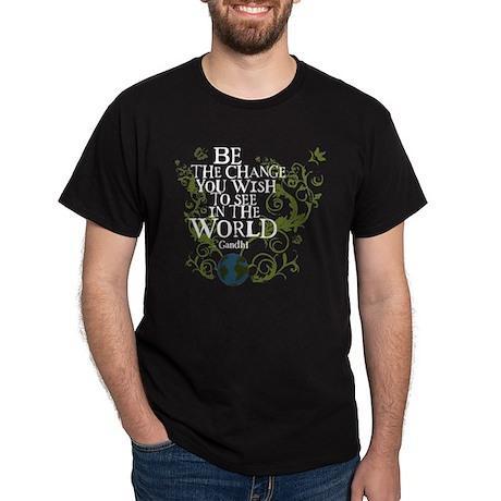 Be the Change - Earth - Green Vine Dark T-Shirt