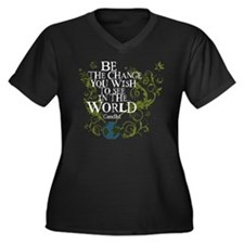 Be the Change - Earth - Green Vine Women's Plus Si