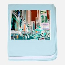 Times Square 3 baby blanket