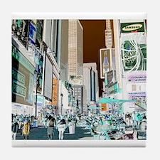 Times Square 3 Tile Coaster