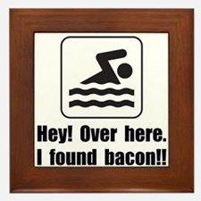 Found Bacon Framed Tile