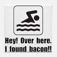 Found Bacon Tile Coaster