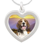 Beagle Meadow Silver Heart Necklace