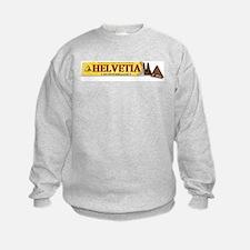 Helvetica Fun Humour Sweatshirt