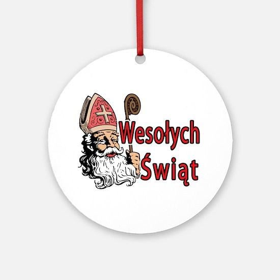 Wesolych Swiat Ornament (Round)