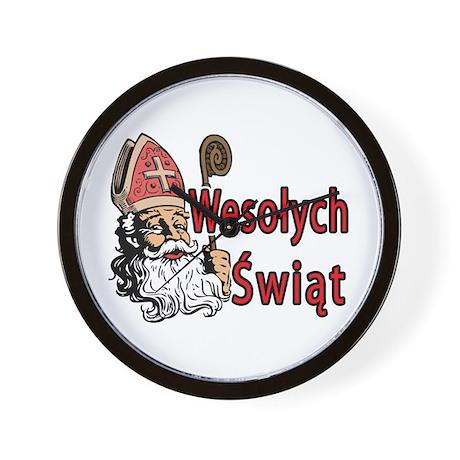 Wesolych Swiat Wall Clock