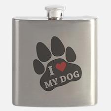 I Heart My Dog Flask