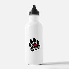 I Heart My Dog Water Bottle