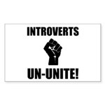 Introverts Un Unite Sticker (Rectangle 50 pk)